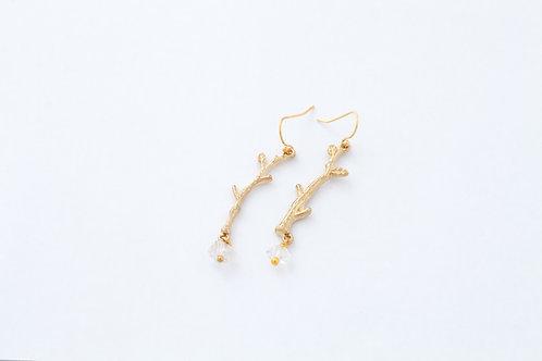 Herkimer Diamond Branch Earrings