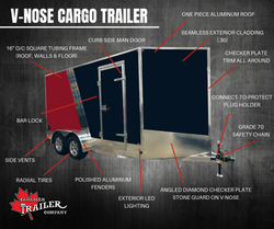 v-nose cargo trailer options