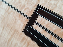 Ebony & wenge inlay, in a big leaf maple back