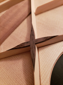 Wenge flower, on sitka spruce