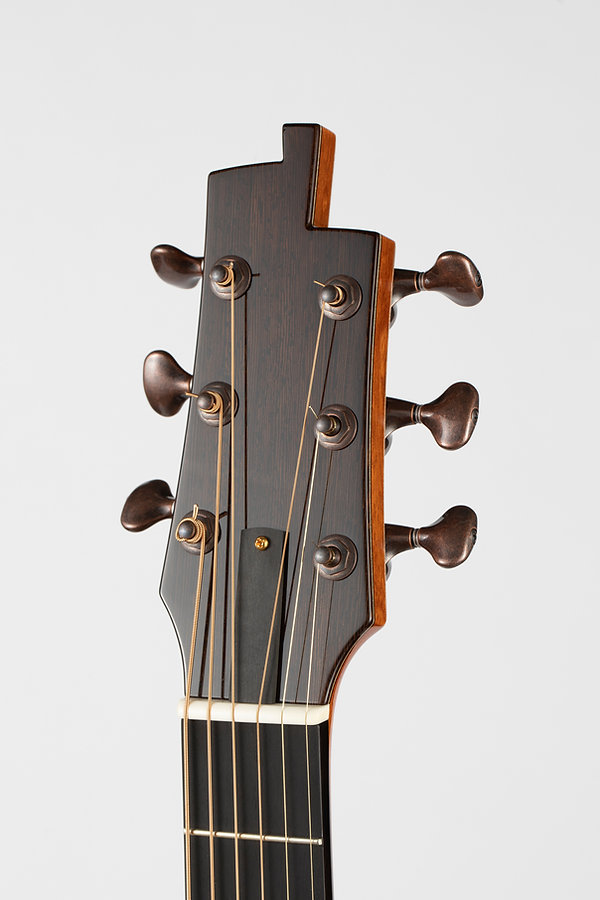 "Benjamin Paldacci Guitars Headstock - ""ORIGINAL SHAPE DESIGN"""
