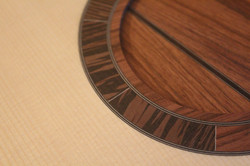 """Sun pattern"" rosette - higuerilla & wenge"