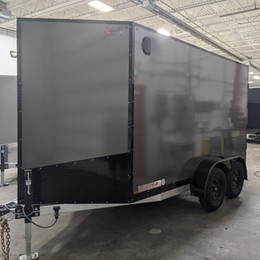 6x12 Tandem Axle in Charcoal with Blackout Package