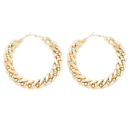 Aje Link Hoop Earrings