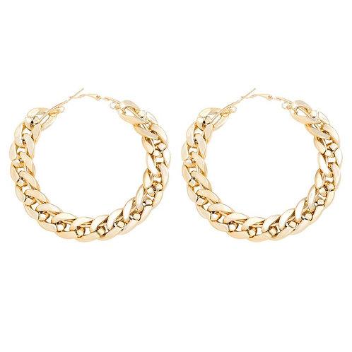 Aje Link Hoop Earrings