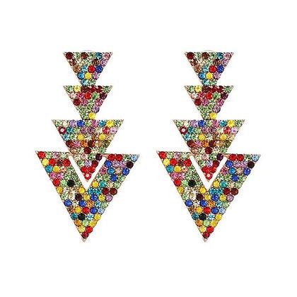 Damia Triangle Stud Earrings