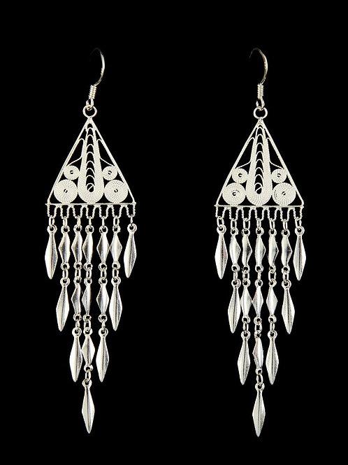 Nadi Triangular Filigree Earrings