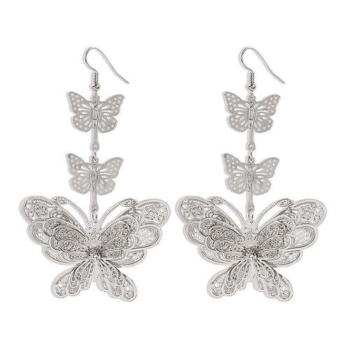 Nika Butterfly Dangle Silver