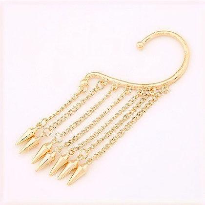 Raina Tassel Spike Earring