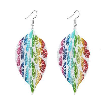 Iris Leaf Earring