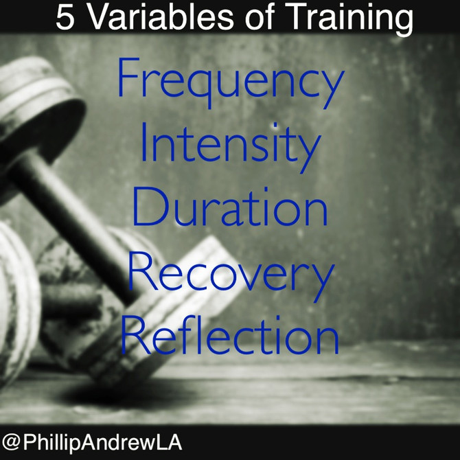 Five variables of training