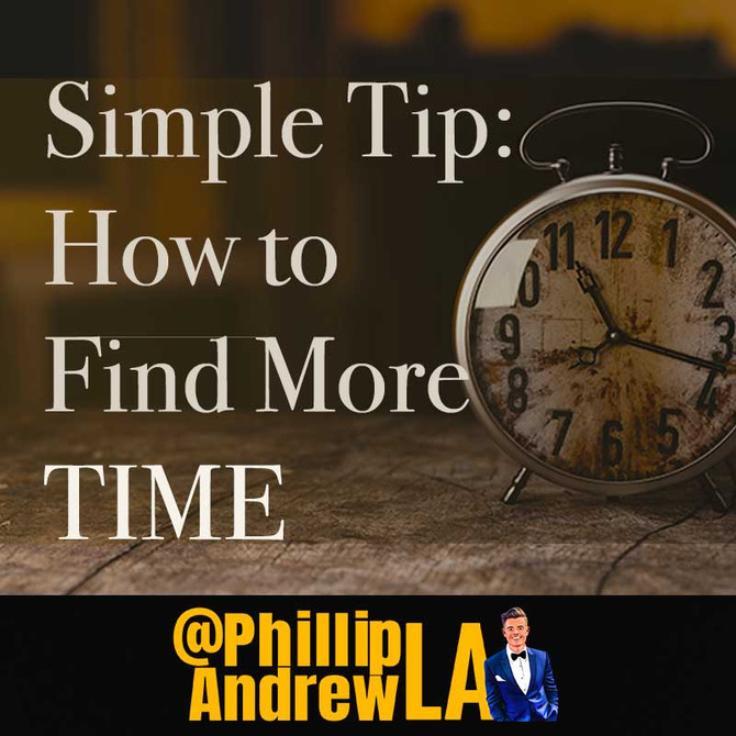 HOW TO FIND MORE TIME...