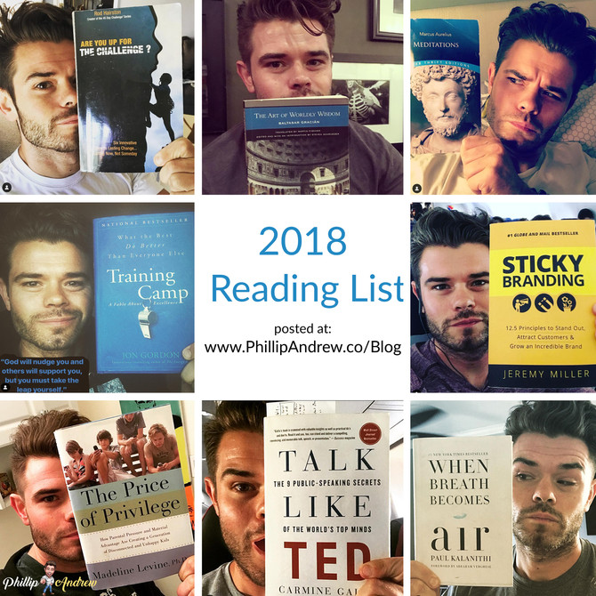 2018 Great Books Reading List - PhillipAndrewLA