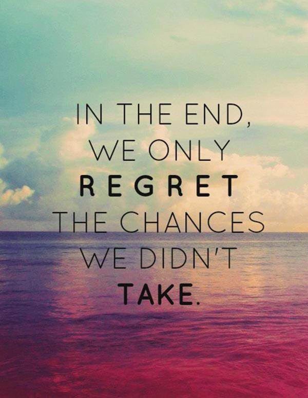 REGRET WILL COME TOMORROW IF WE DON'T DESTROY IT TODAY.