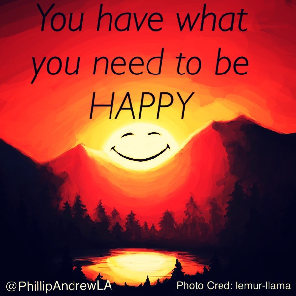 YOU HAVE WHAT YOU NEED TO BE HAPPY