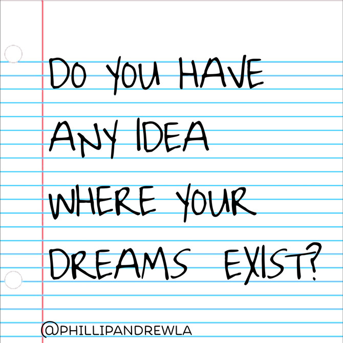 DO YOU HAVE ANY IDEA WHERE YOUR DREAMS EXIST?