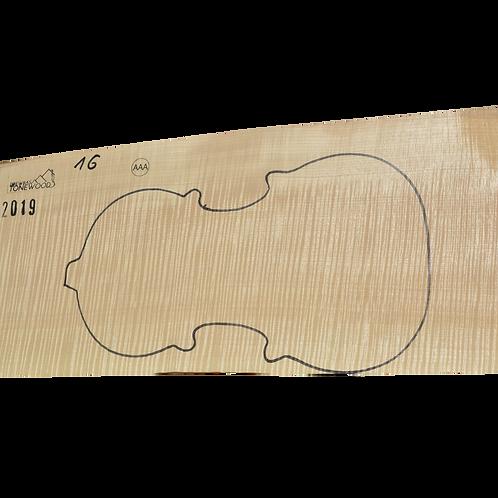 Flamed maple   One Piece Violin set No.16