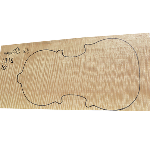Flamed maple | One Piece Violin set No.10