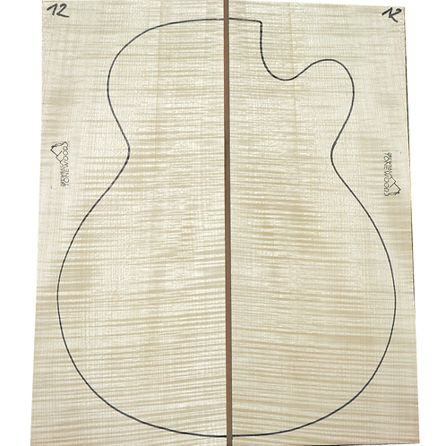Archtop Jazz guitar back + sides No.12
