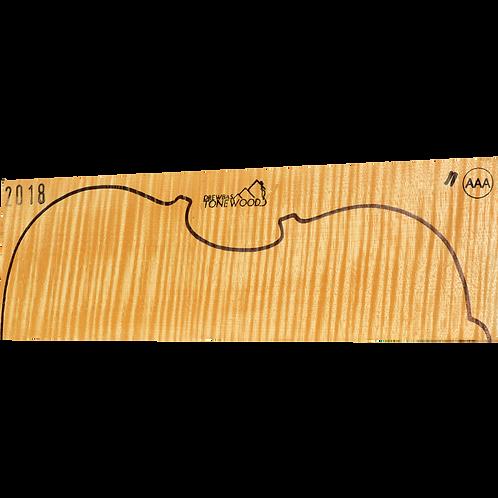 Flamed maple | Viola set No.11 (low density wood)