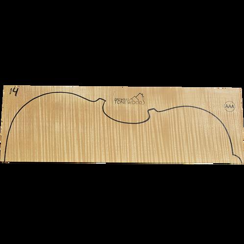 Flamed maple | Viola set No.14