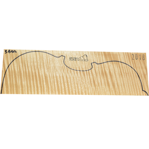 Flamed maple | Viola set No.3