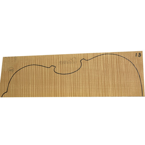 Flamed maple | Viola set No.19