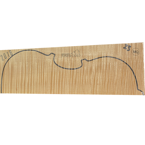 Flamed maple | Viola set No.23