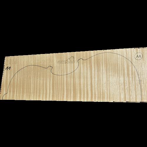 Flamed maple | Viola set No.11