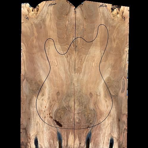 European walnut | E-guitar set No.4