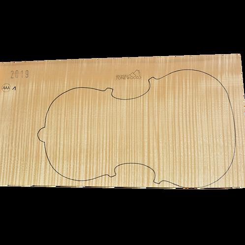 Flamed maple | One Piece Viola set No.1