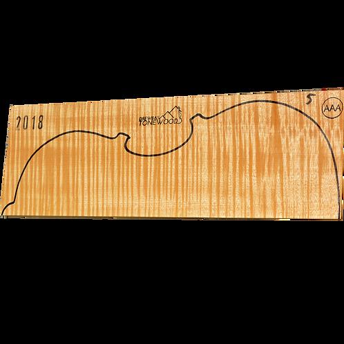 Flamed maple | Viola set No.5 (low density wood)