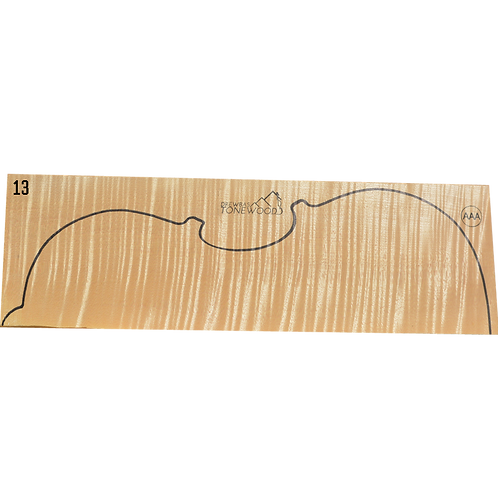 Flamed maple | Viola set No.13