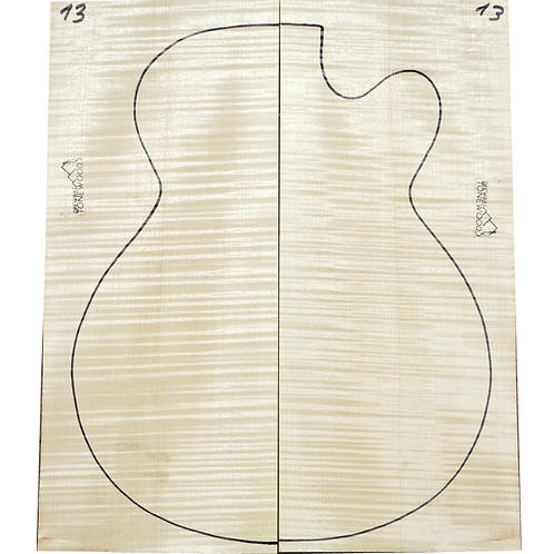 Archtop Jazz guitar back + sides No.13