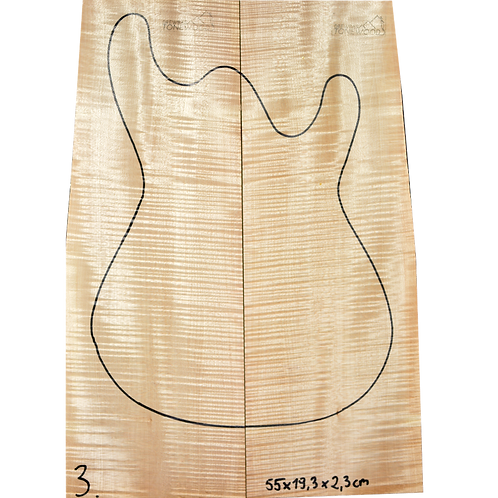 Flamed maple | Guitar Top No.3