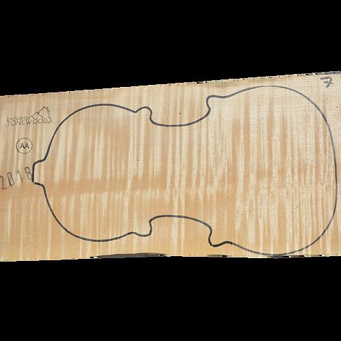 Flamed maple | One piece Violin set No.7