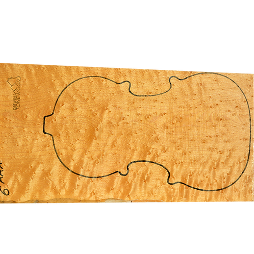 Birdseye maple | AAA One Piece Viola set No.6 (1)