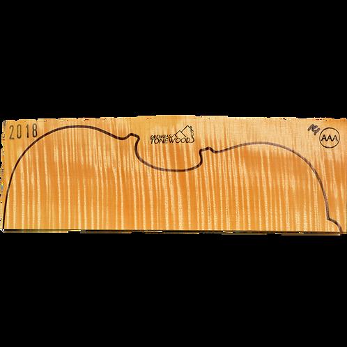 Flamed maple | Viola set No.14 (low density wood)