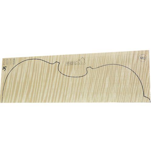 Flamed maple | Viola set No.15