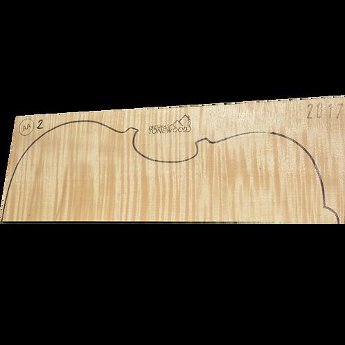 Flamed maple | Viola set No.2