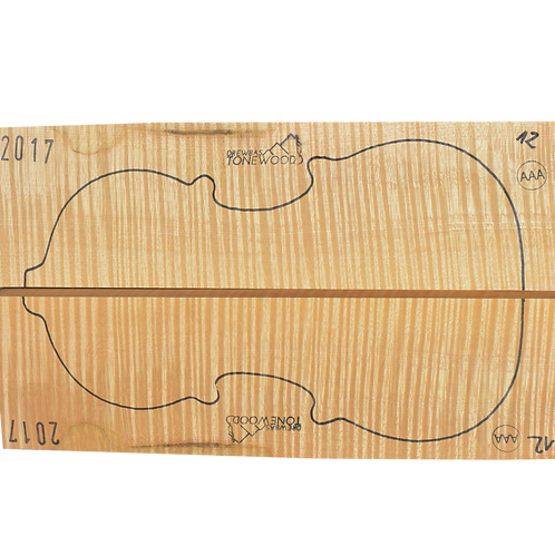 Flamed maple | Violin set No.12