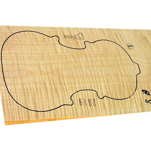 Flamed maple | One Piece Violin set No.8