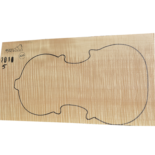Flamed maple | One Piece Violin set No.5