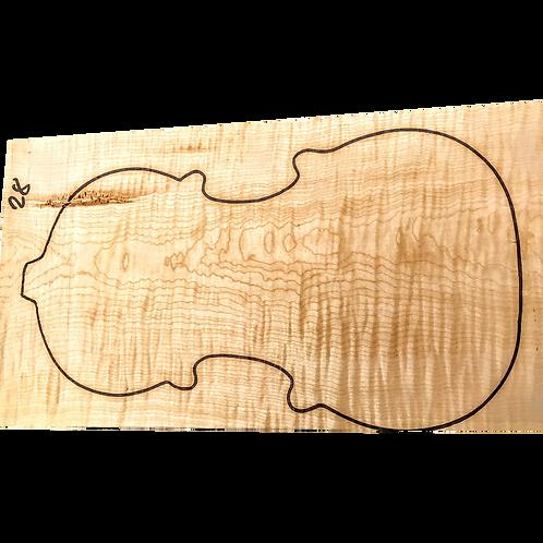Flamed maple   One Piece Violin set No.28