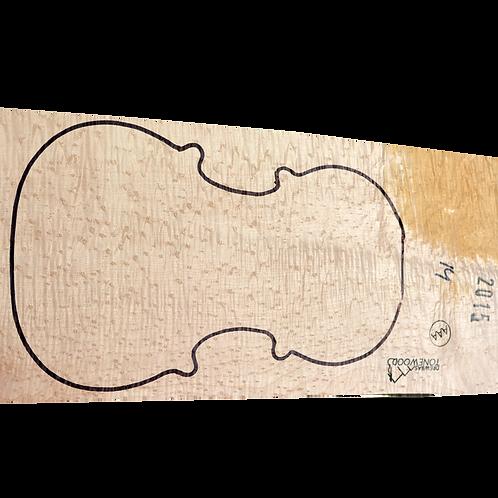 Birdseye maple | One Piece Violin set No.14