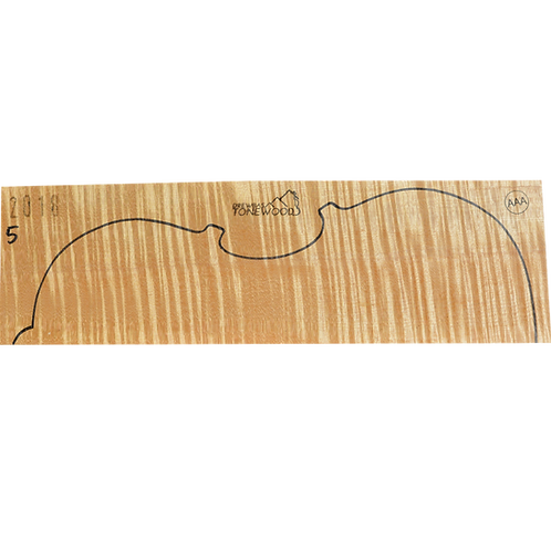 Flamed maple | Viola set No.5