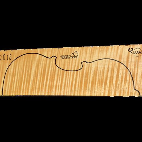 Flamed maple   Viola set No.12 (low density wood)
