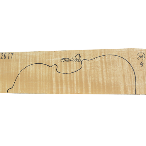 Flamed maple | Violin set No.4