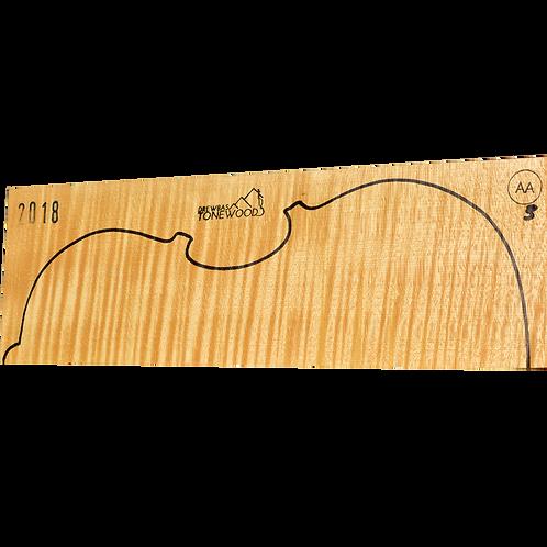 Flamed maple | Viola set No.3 (low density wood)