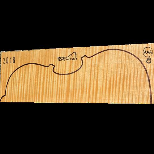 Flamed maple   Viola set No.8 (low density wood)